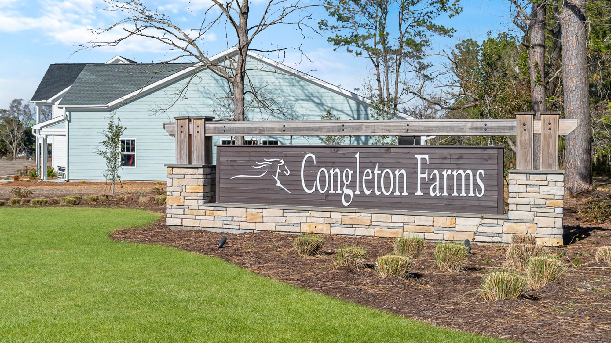 Entrance to Congleton Farms new home community in Wilmington NC
