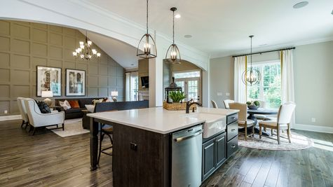 Kitchen to Family Room | Patterson Plan