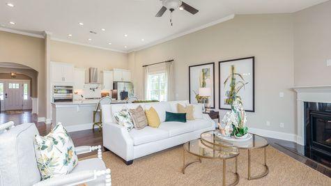 Family Room to Kitchen | Edgewood Plan