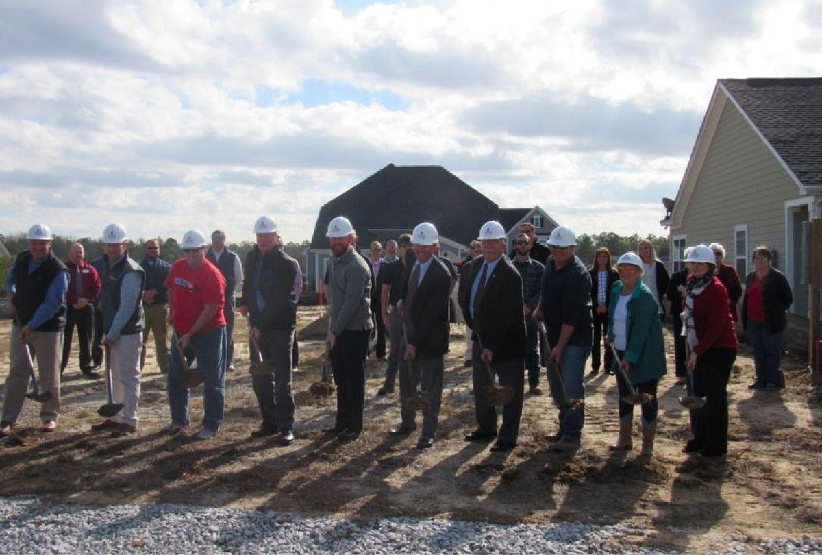 Mungo Homes team beginning construction