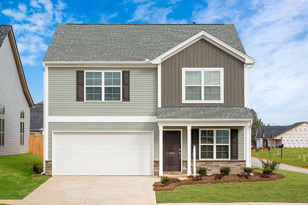 New home in Knightdale NC with modern farmhouse exterior