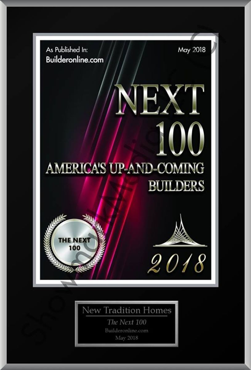 "Logo - 2018 Builder Magazine ""NEXT 100"" List"