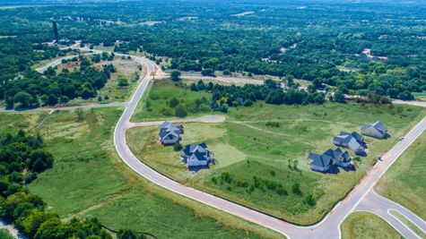 Aerial view of Cambria Heights new home community in Edmond OK