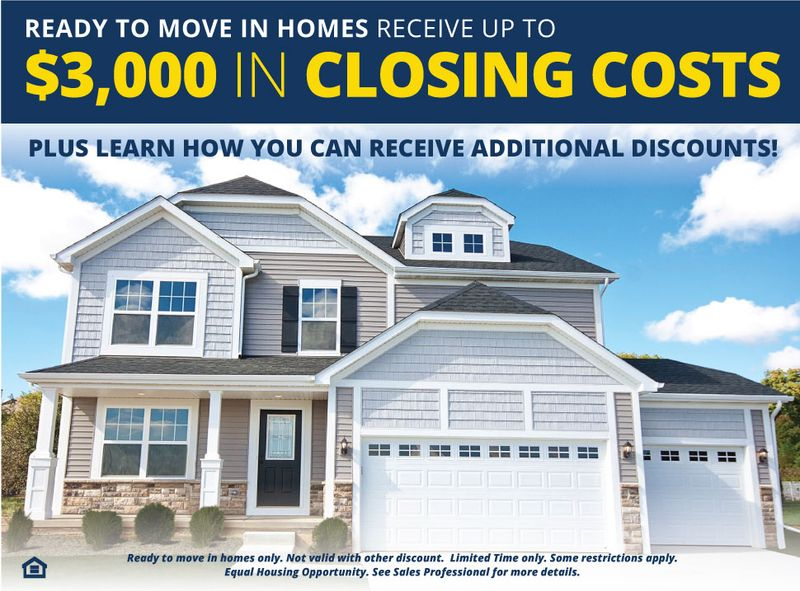 Receive Closing Costs on Ready To Move In Homes