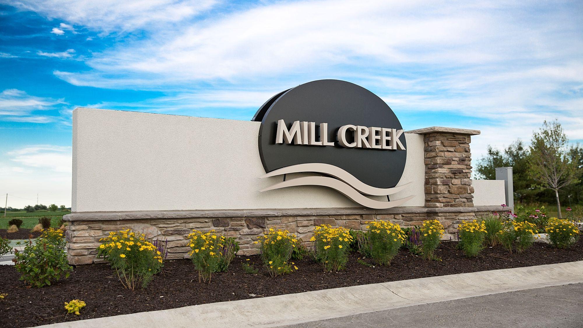 Mill Creek Entrance Marker