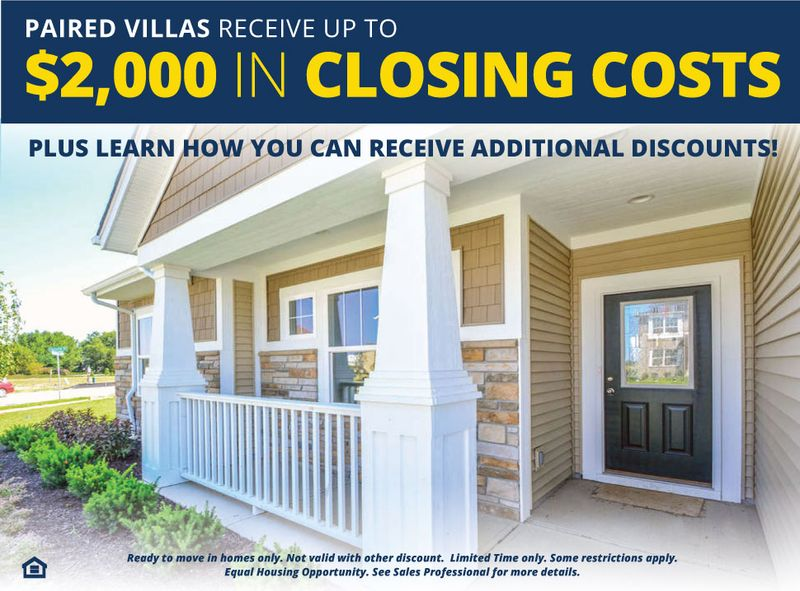 Receive Closing Costs on Paired Villas