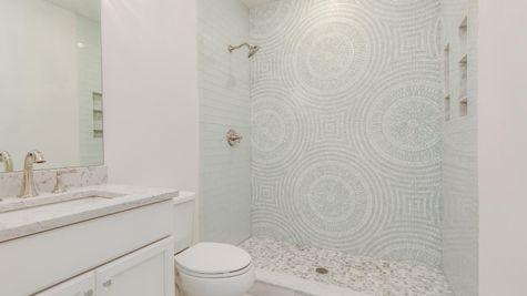 Hall bathroom in Brandywine model home