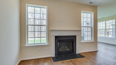 The Primrose Great Room with optional gas fireplace