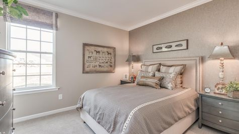 Second bedroom in Zinnia model one story new home in south New Jersey.