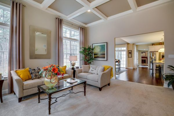 Family Room in Brandywine with kitchen in distance