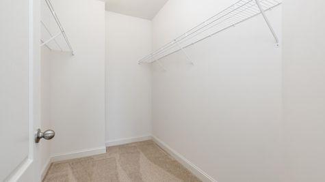 Walk-in closet in Avignon model new home in NJ