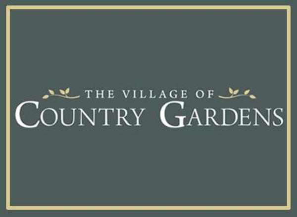 Logo for active adult 55+ new home community at The Village of Country Gardens in Mantua NJ