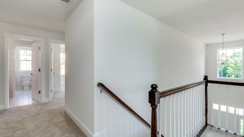 Second floor hallway of the Ashton model home in South Jersey.