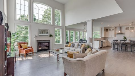 The Oxford Elite - Family Room w/ Gas Fireplace