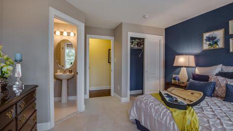 Bedroom in Brandywine with bathroom & closet visible.