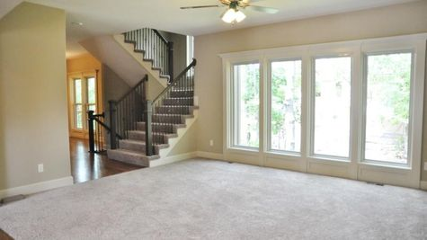 Ashland II Living and Stairs