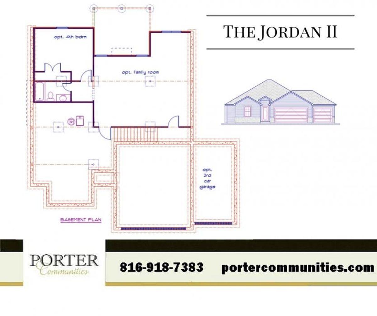 Jordan II Basement Floor Plan