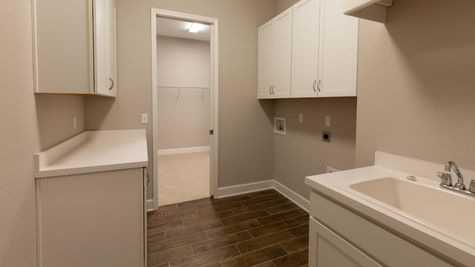 The Buckhorn Florida at Lot 214 in Heritage Trace Laundry Room