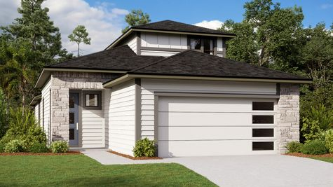 Jackson Model Home - Modern Prairie Elevation