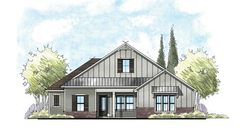 The Broward Farmhouse Elevation 4