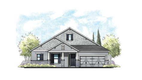 The Ellaville at Crosswater Southern Craftsman Elevation 8