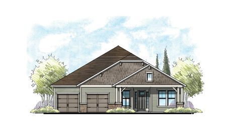 The Magnolia Urban Rustic Elevation 4 w/ 2-Car Garage