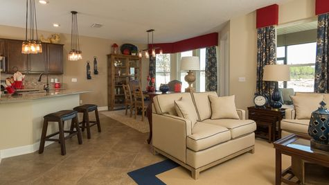 The Juniper Model at Greenleaf Lakes Family Room