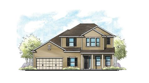 The Lafayette Low Country Elevation 5 2-Car Garage