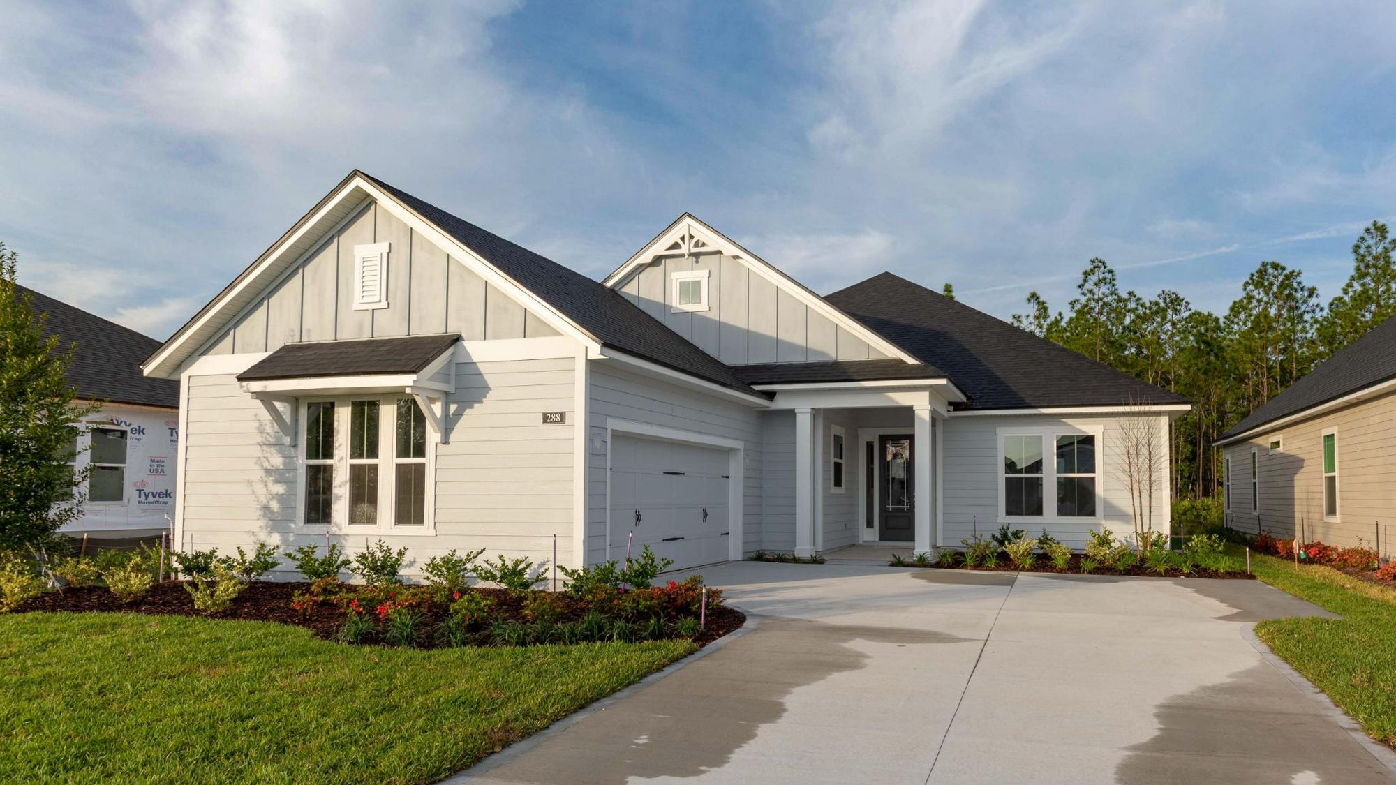 The Buckhorn Florida Farmhouse Elevation at Lot 214 in Heritage Trace