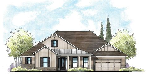The Osceola Farmhouse Elevation 2