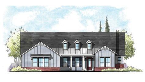 The Collier Farmhouse Elevation 5
