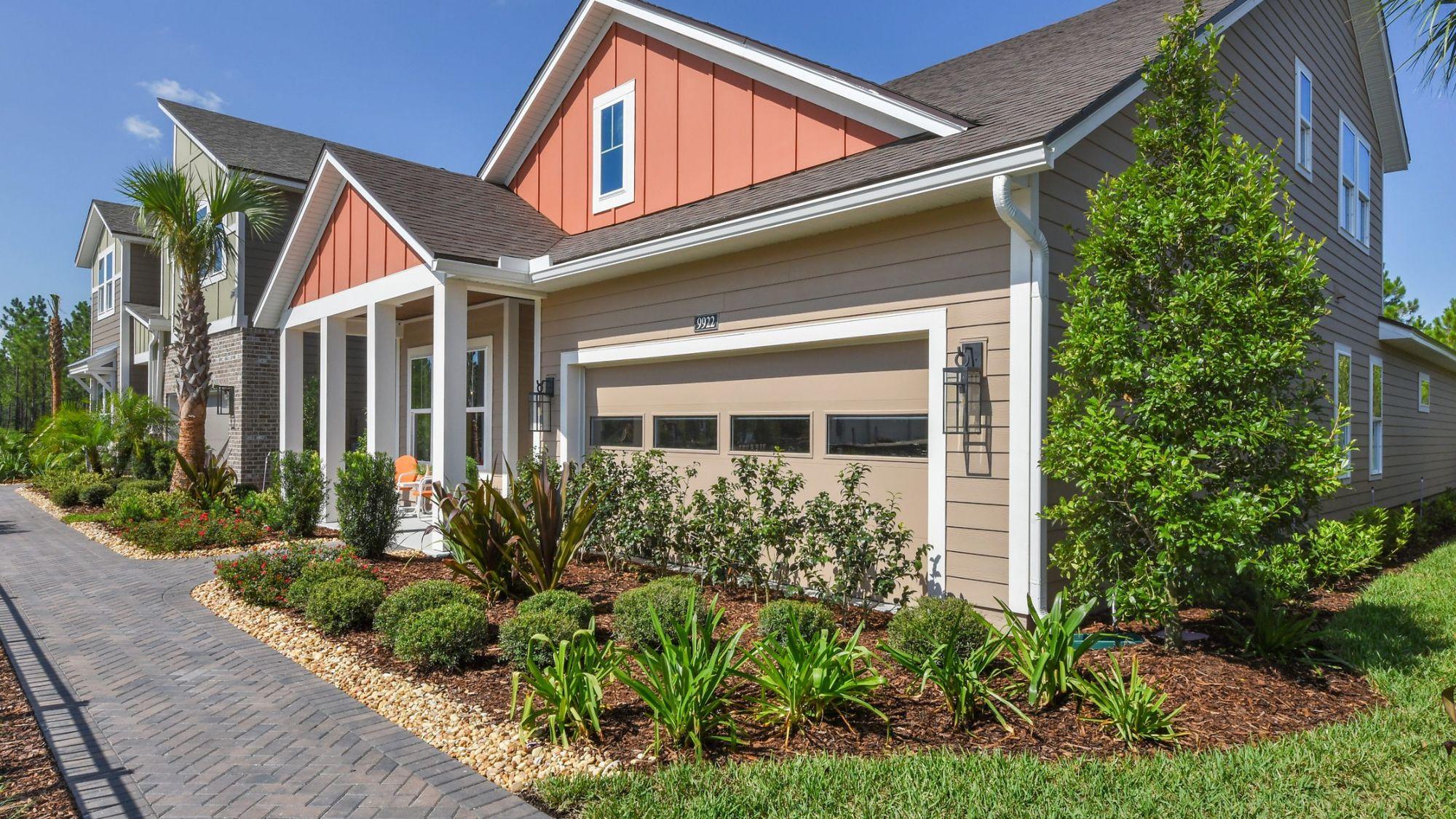 Royal Model - Modern Farmhouse Elevation - Garage View