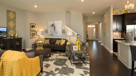 The Lafayette Model at Greenleaf Lakes Family Room