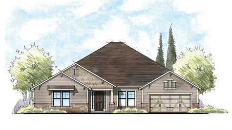 The Osceola Craftsman Elevation 6