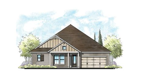 The Ellaville Florida Farmhouse Elevation