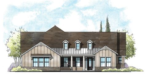 The Collier Farmhouse Elevation