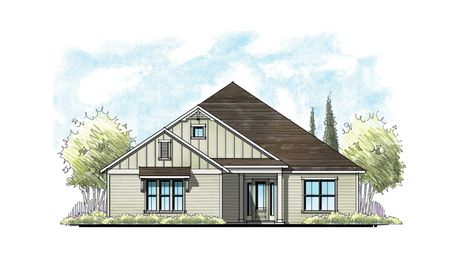 The Buckhorn at Crosswater Florida Farmhouse Elevation 11