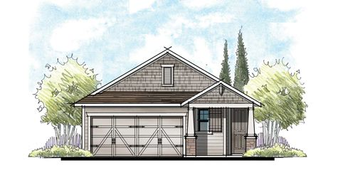 The Apopka Southern Craftsman Elevation 7