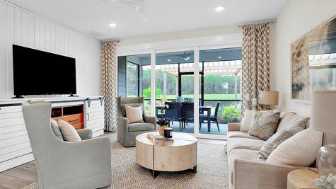 The Hernando Model at Settler's Landing Living Room