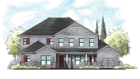The Charlotte Craftsman Elevation 3