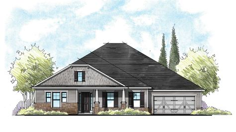 The Monroe Craftsman Elevation 1