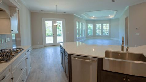 The Broward at Lot 80 in Markland Family Room and Kitchen