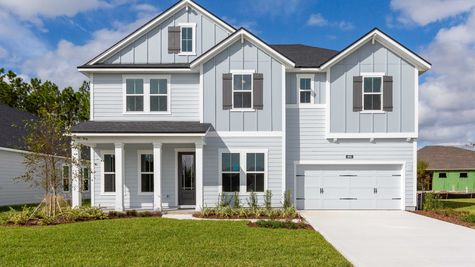 The Alexander Florida Farmhouse Elevation at Freedom Landing Lot 45