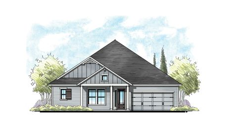 The Ellaville at Crosswater Florida Farmhouse Elevation 10