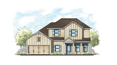The Lafayette at Crosswater Florida Farmhouse Elevation 8