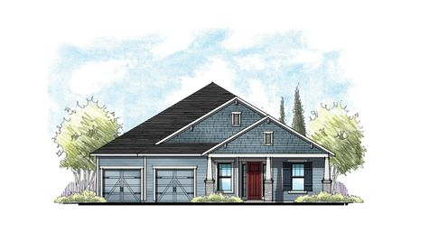 The Magnolia Southern Craftsman Elevation 6 w/ 2-Car Garage