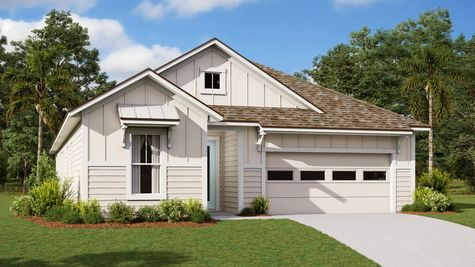 The Ginnie Modern Farmhouse Elevation 1