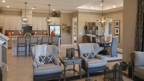 The Ellaville Model at Gran Lake Living Room