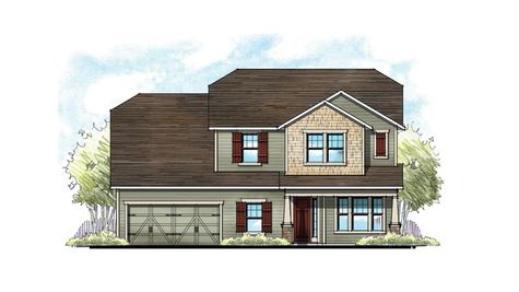 The Lafayette Southern Craftsman Elevation 1 2-Car Garage