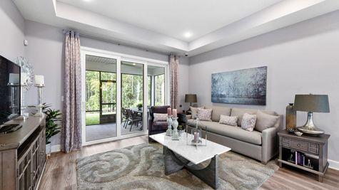 The Apopka Model at Pioneer Village Living Room